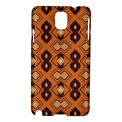 Brown Leaves Pattern samsung Galaxy Note 3 N9005 Hardshell Case by LalyLauraFLM