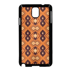 Brown Leaves Pattern 			samsung Galaxy Note 3 Neo Hardshell Case (black) by LalyLauraFLM