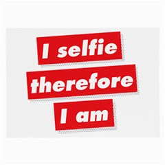 I Selfie Therefore I Am Large Glasses Cloth (2-Side) by theimagezone