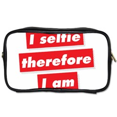 I Selfie Therefore I Am Toiletries Bags by theimagezone