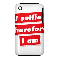 I Selfie Therefore I Am Apple Iphone 3g/3gs Hardshell Case (pc+silicone) by theimagezone
