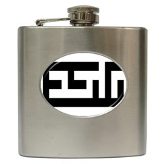Black And White Hip Flask (6 Oz) by timelessartoncanvas