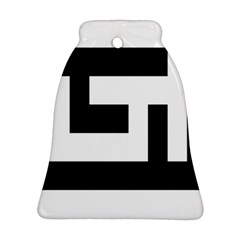 Black And White Ornament (bell)  by timelessartoncanvas