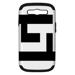 Black and White Samsung Galaxy S III Hardshell Case (PC+Silicone) by timelessartoncanvas