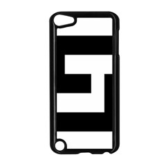 Black And White Apple Ipod Touch 5 Case (black) by timelessartoncanvas