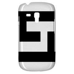 Black And White Samsung Galaxy S3 Mini I8190 Hardshell Case by timelessartoncanvas