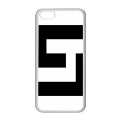Black And White Apple Iphone 5c Seamless Case (white) by timelessartoncanvas