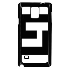 Black And White Samsung Galaxy Note 4 Case (black) by timelessartoncanvas