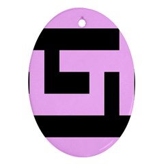 Black And Pink Oval Ornament (two Sides) by timelessartoncanvas