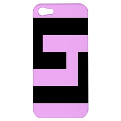 Black And Pink Apple Iphone 5 Hardshell Case by timelessartoncanvas