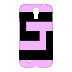 Black And Pink Samsung Galaxy S4 I9500/i9505 Hardshell Case by timelessartoncanvas