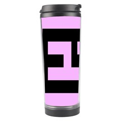 Black And Pink Travel Tumblers by timelessartoncanvas