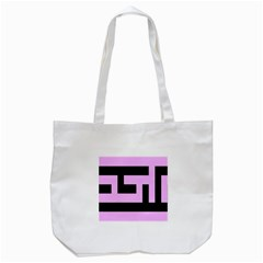 Black And Pink Tote Bag (white) by timelessartoncanvas