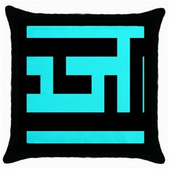 Black And Teal Throw Pillow Case (black) by timelessartoncanvas