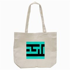 Black And Teal Tote Bag (cream) by timelessartoncanvas