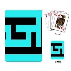 Black And Teal Playing Card by timelessartoncanvas