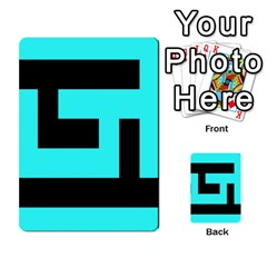 Black And Teal Multi Purpose Cards (rectangle)  by timelessartoncanvas