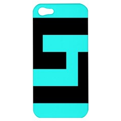Black And Teal Apple Iphone 5 Hardshell Case by timelessartoncanvas