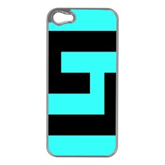Black And Teal Apple Iphone 5 Case (silver) by timelessartoncanvas
