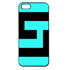 Black And Teal Apple Iphone 5 Seamless Case (black) by timelessartoncanvas