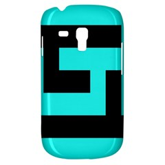 Black And Teal Samsung Galaxy S3 Mini I8190 Hardshell Case by timelessartoncanvas