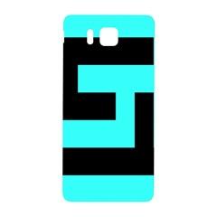 Black And Teal Samsung Galaxy Alpha Hardshell Back Case by timelessartoncanvas