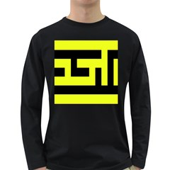 Black And Yellow Long Sleeve Dark T Shirts by timelessartoncanvas