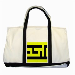 Black And Yellow Two Tone Tote Bag by timelessartoncanvas