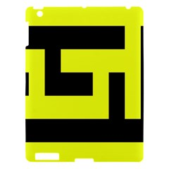 Black And Yellow Apple Ipad 3/4 Hardshell Case by timelessartoncanvas