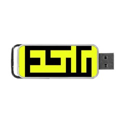 Black And Yellow Portable Usb Flash (one Side) by timelessartoncanvas