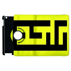 Black And Yellow Apple Ipad 3/4 Flip 360 Case by timelessartoncanvas