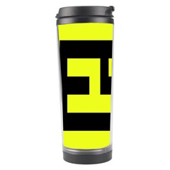 Black And Yellow Travel Tumblers by timelessartoncanvas