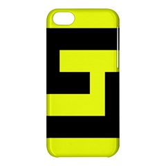 Black And Yellow Apple Iphone 5c Hardshell Case by timelessartoncanvas