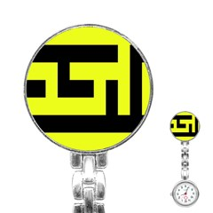 Black And Yellow Stainless Steel Nurses Watch by timelessartoncanvas