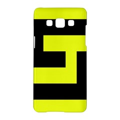 Black And Yellow Samsung Galaxy A5 Hardshell Case  by timelessartoncanvas