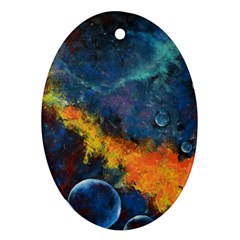 Space Balls Ornament (oval)  by timelessartoncanvas