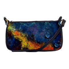 Space Balls Shoulder Clutch Bags by timelessartoncanvas
