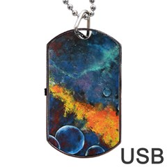 Space Balls Dog Tag Usb Flash (two Sides)  by timelessartoncanvas