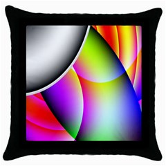 Psychedelic Design Throw Pillow Case (black) by timelessartoncanvas