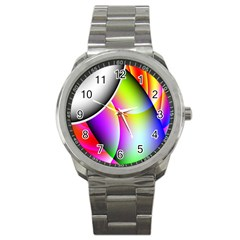 Psychedelic Design Sport Metal Watch by timelessartoncanvas