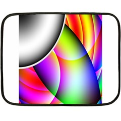 Psychedelic Design Double Sided Fleece Blanket (mini)  by timelessartoncanvas