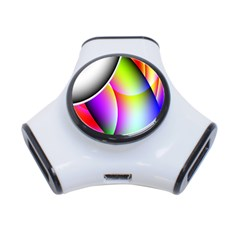 Psychedelic Design 3 Port Usb Hub by timelessartoncanvas