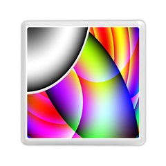 Psychedelic Design Memory Card Reader (Square)  by timelessartoncanvas