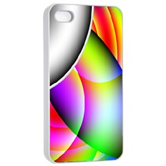 Psychedelic Design Apple Iphone 4/4s Seamless Case (white) by timelessartoncanvas