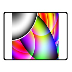 Psychedelic Design Double Sided Fleece Blanket (small)  by timelessartoncanvas