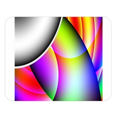 Psychedelic Design Double Sided Flano Blanket (large)  by timelessartoncanvas