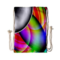Psychedelic Design Drawstring Bag (small) by timelessartoncanvas
