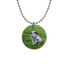Pit Bull T Bone Puppy Button Necklaces by ButThePitBull