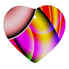 Colorful 1 Ornament (heart)  by timelessartoncanvas