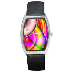 Colorful 1 Barrel Style Metal Watch by timelessartoncanvas